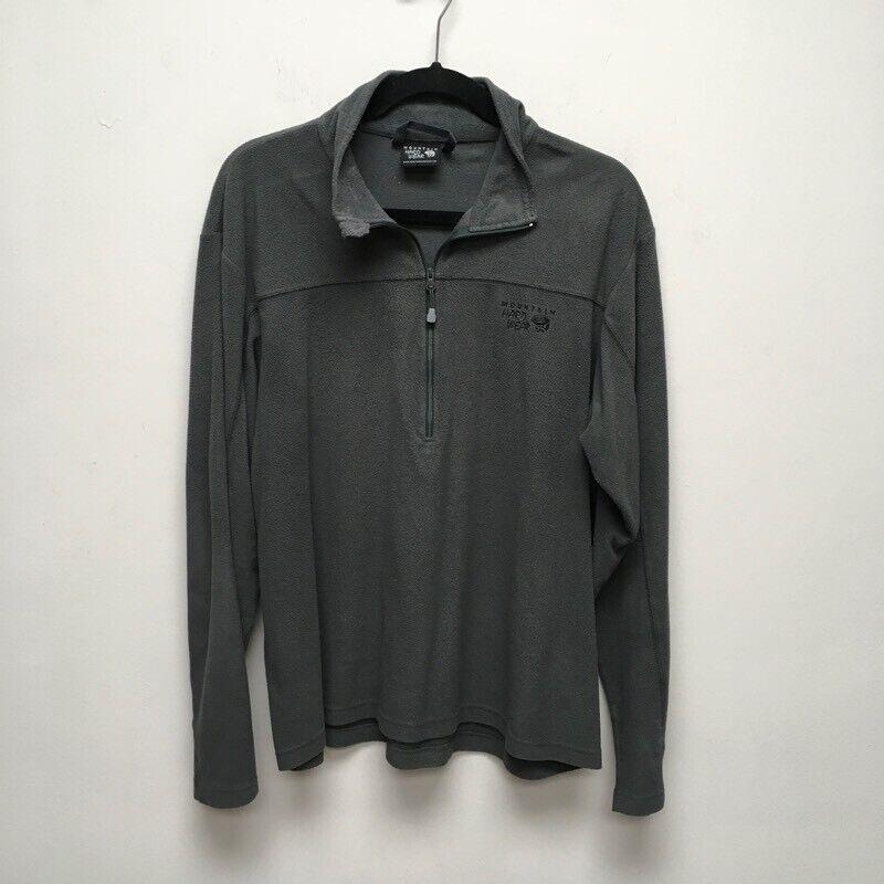 Mountain Hardwear Womens Pullover Sweatshirt Gray 1/2 Zip Long Sleeve Collared M