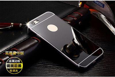 Luxury Aluminum Ultra-thin Mirror Metal Case Cover for Apple iPhone 5S 6 6S Plus