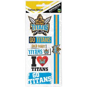Gold-Coast-Titans-NRL-Tattoo-Sheet-NRL-Official-Merchandise