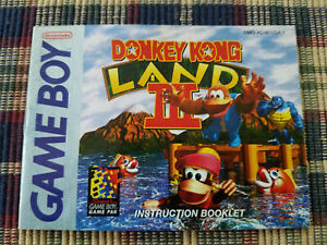 Donkey Kong Land III - Authentic - Nintendo Game Boy Manual Only DMG-AD3E-USA-1