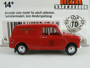 Brekina-15353-Austin-Mini-Van-1959-034-Royal-Mail-GB-034-in-rot-1-87-H0-NEU-OVP