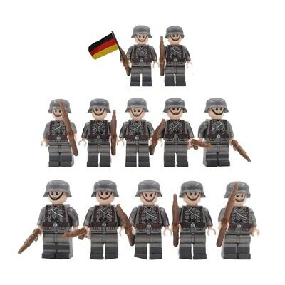 Custom American GI Army Platoon Soldiers Toy Minifgures Set W// Accessories WOW