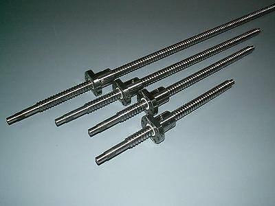 2 set anti backlash 25mm ballscrew RM2505-900//1200mm-C7+ball nut+end machine CNC