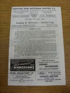 23041964 Tooting And Mitcham United v Oxford City  Four Pages Light Marking - <span itemprop=availableAtOrFrom>Birmingham, United Kingdom</span> - Returns accepted within 30 days after the item is delivered, if goods not as described. Buyer assumes responibilty for return proof of postage and costs. Most purchases from business s - Birmingham, United Kingdom