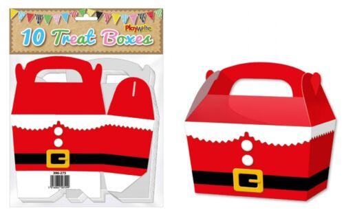 Christmas Gift Party Kids Cupcake Xmas Wrapping Bag 10 Santa Suit Treat Boxes