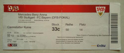 TICKET DFB Pokal 2008/09 VfB Stuttgart Eintrittskarten Sport Bayern München # Cannstatter