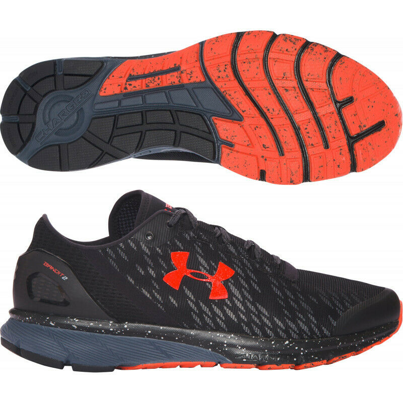 first rate e04d6 321a5 Men's Under Armour UA Charged Bandit 2 Night Black Mesh Running Shoes  Trainers