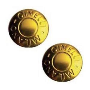 Cinelli-Milano-Anodized-Bar-End-Cap-Plugs-Pair-Yellow-BMX-MTB-ATB-Fixie