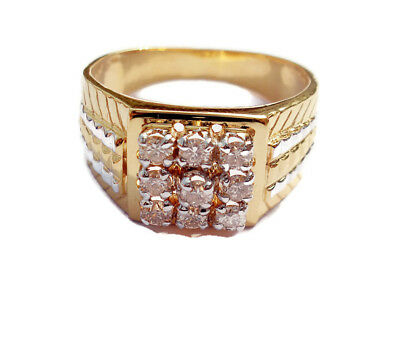 0.50ct Diamond 14k Yellow Gold Lovely Engagement Men's Ring
