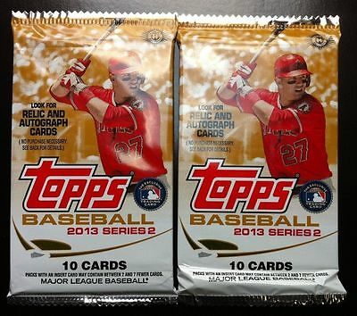 2x 2013 Topps Baseball Series-2 10cd HOBBY Pack Box Fresh (Rookie Auto Relics)?