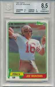 1981-Topps-JOE-MONTANA-BGS-8-5-Rookie-Card-5-away-from-Mint-9