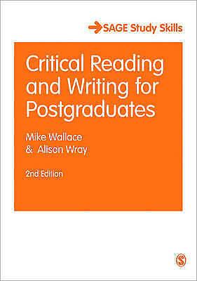 Critical Reading and Writing for Postgraduates (Sage Study Skills Series), Aliso