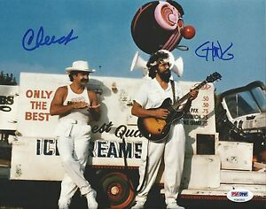 Cheech-Marin-and-Tommy-Chong-Signed-8x10-Photo-PSA-DNA-COA-Up-in-Smoke-Autograph
