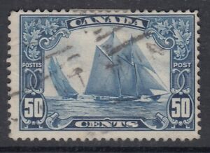 Canada-Scott-158-50-cent-Bluenose-034-Scroll-034-HCV-100