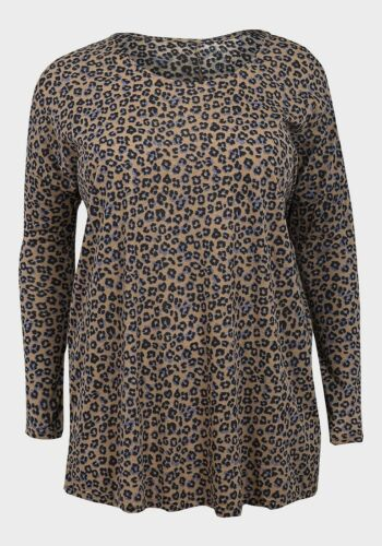 EX CHAINSTORE COTTON  LONG SLEEVE ANIMAL PRINT TOP FREE P/&P