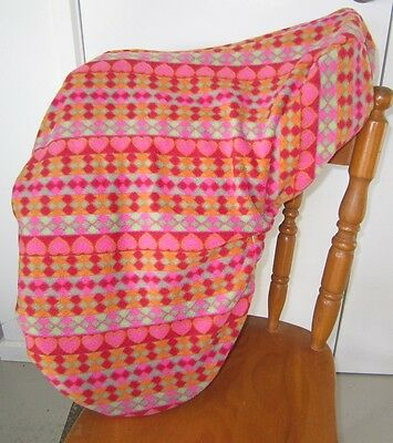Horse Saddle cover Pastel striped  FREE EMBROIDERY Australian Made Protection