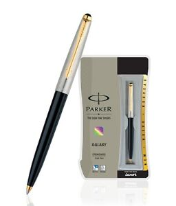 10xPARKER GALAXY STANDARD GT BALL POINT PEN (BLACK) WITH FREE WORLDWIDE SHIPPING