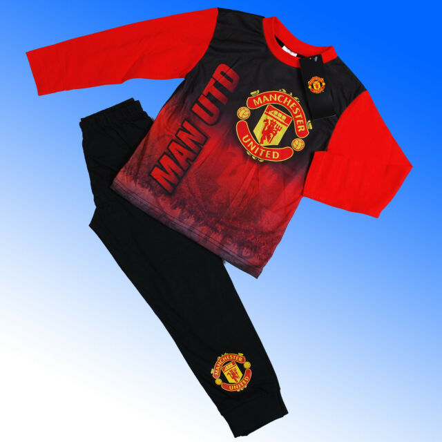 Garçons Authentique Officiel Manchester United FC AOP Pyjamas #MUFC Age 4-12 ans