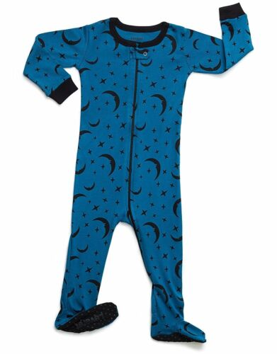 12M-14Y Leveret Boys Girls Moon Footed Pajama 100/% Organic Cotton