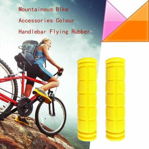 1 Paar Fahrrad Gummi Lenker-Griff Massage  Fahrrad Mountainbike MTB ☜A