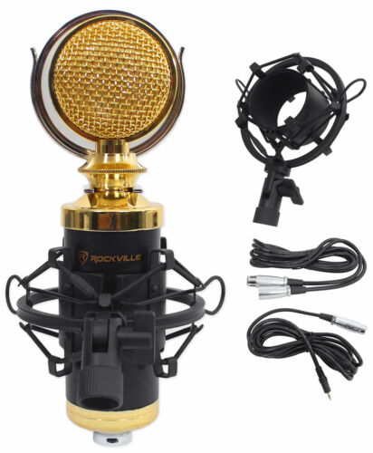 Rockville RCM02 Video Conference Live Stream Recording Microphone Zoom Mic