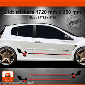 sticker renault clio rs 3 tuning sport aufkleber adesivi pegatina decal 514nr ebay. Black Bedroom Furniture Sets. Home Design Ideas