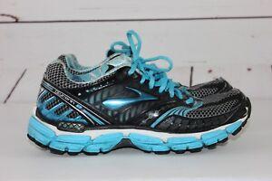 6dba1a908a5 Brooks Glycerin 9 Women s Black Blue Size 7.5 Running Shoes