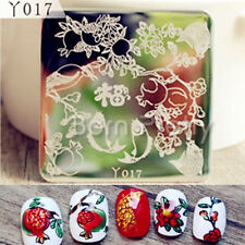 Nail Art Stamping Plate Image Stamp Template Pomegranate Fish Pattern Y017 6cm