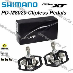 Shimano-Deore-XT-PD-M8020-SPD-Trail-MTB-Clipless-Bike-Pedals-Set-With-Cleats