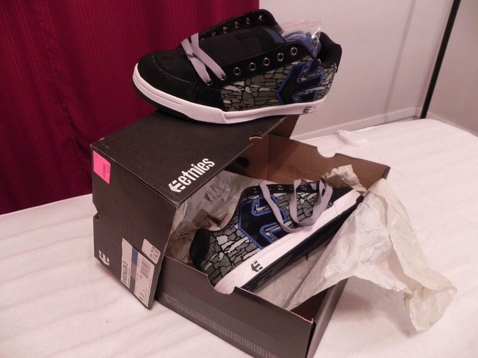 Etnies Men's Sheckler 3 Skate Shoes, Black/Blue/Grey