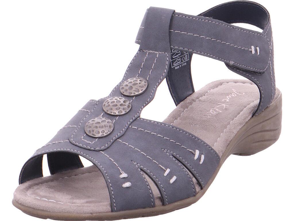 Jane Jane Jane Klain Damen Sandalen 30-50mm glatter Boden Sandale Sandalette grau 0568d1