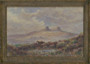 Cyril-Hardy-Signed-Late-19th-Century-Watercolour-Haytor-Rocks-Dartmoor