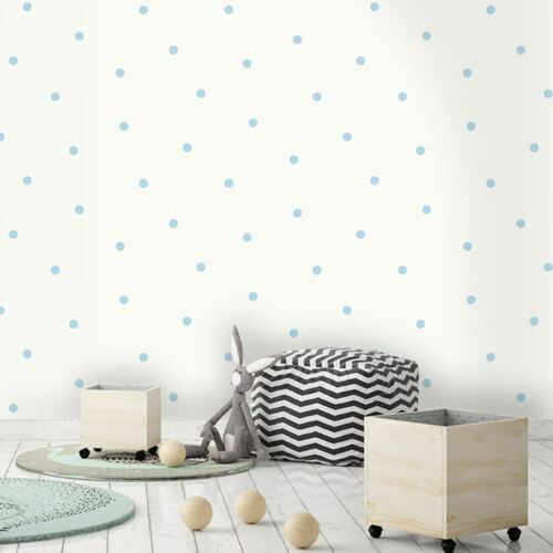 HOLDEN DECOR 12603 GLITTER POLKA DOT NEW DOTTY WALLPAPER BLUE