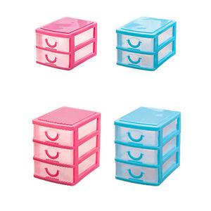 Image is loading Multi-Layer-Cute-Mini-Plastic-Desktop-Storage-Drawer-  sc 1 st  eBay & Multi-Layer Cute Mini Plastic Desktop Storage Drawer Organizer Box ...