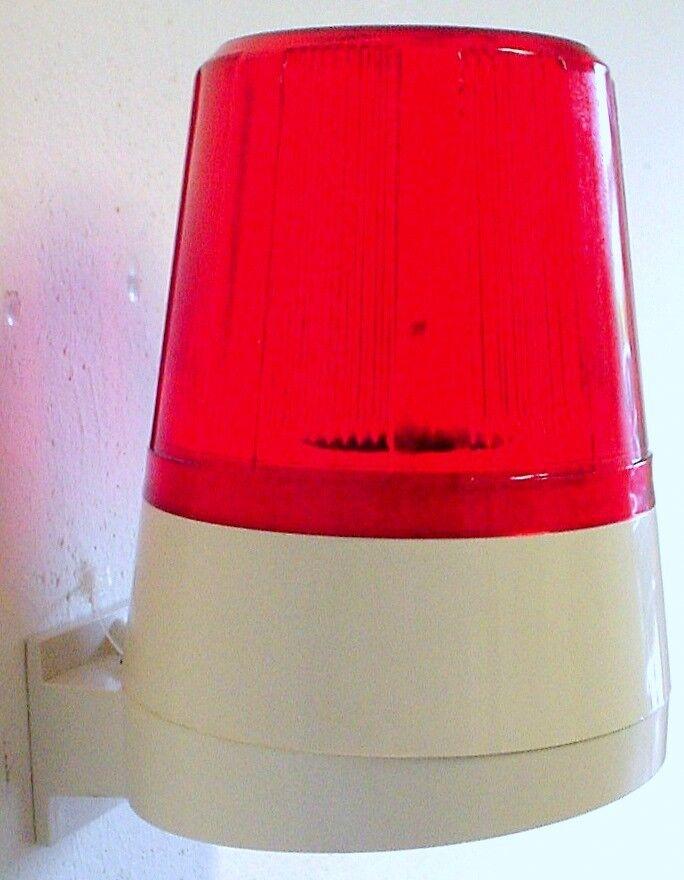 Blitzlampe 12 V DC mit Wandhalter und LED-Blitz- Drehfunktion