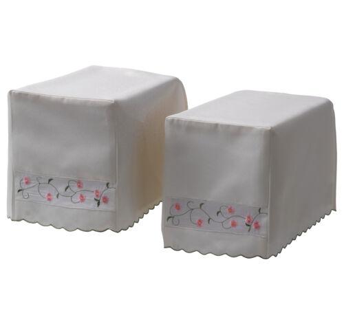 Pair of Square Arm Caps Isabelle Floral Sofa Furniture Protector Antimacassar