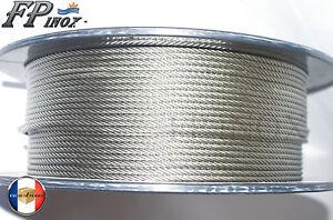 Cable 6mm inox 316 Souple 7x19 VENDU AU METRE inox 316 - A4