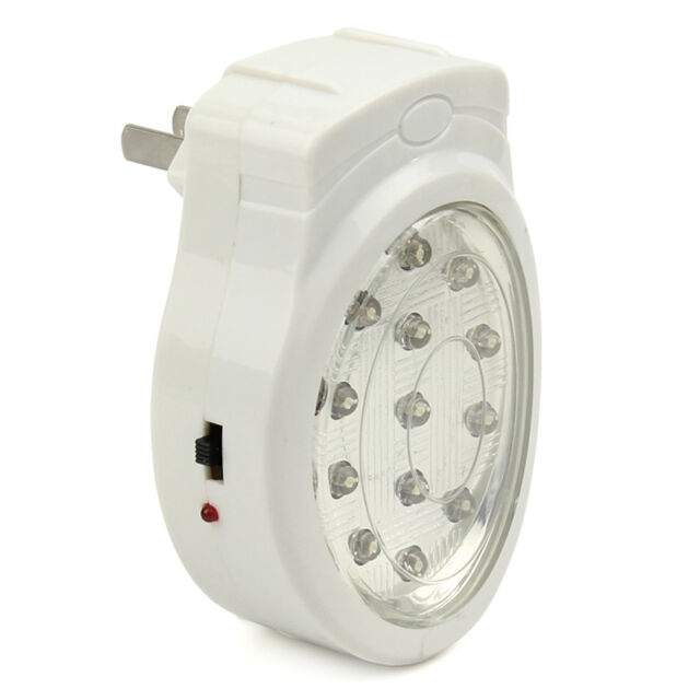 Plug In Emergency Automatic Power Failure Outage Rechargeable 13 LED Light lamp