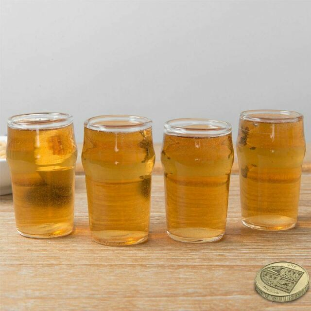 Miniature Beer Mugs Shot Glasses Clear Cups Pub Stein 8 Count Plastic