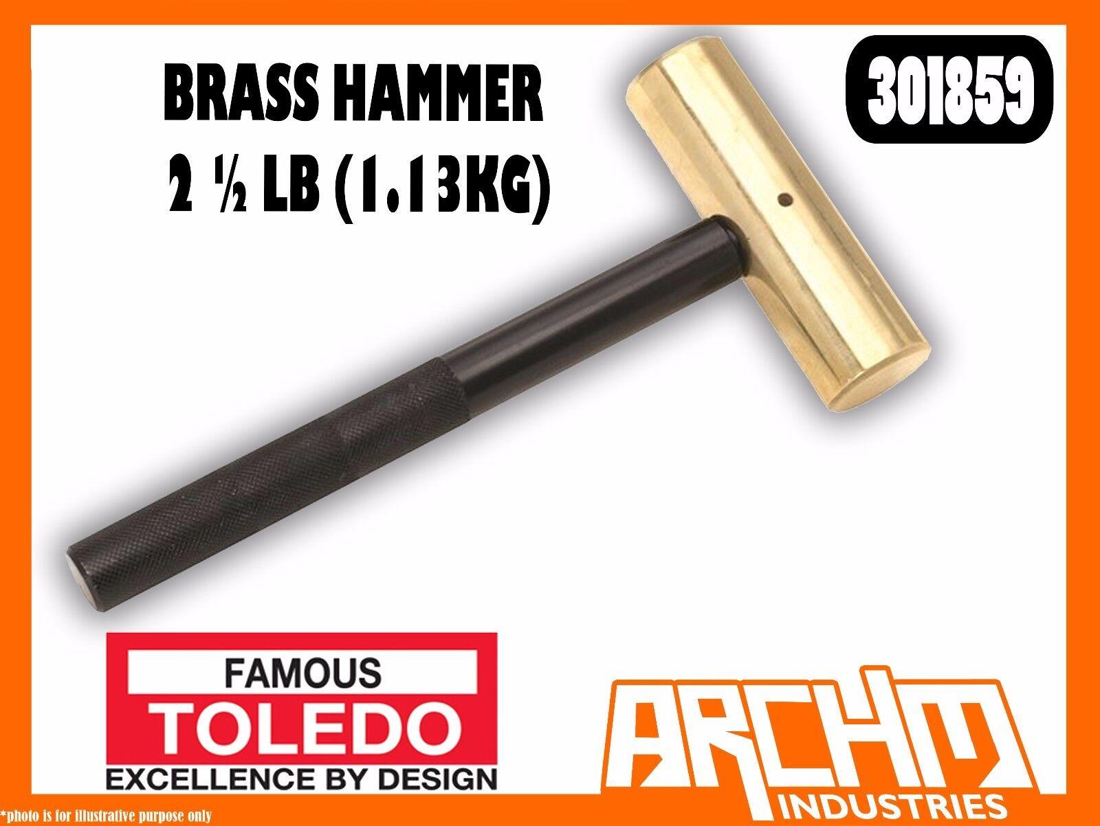 TOLEDO 301859 - BRASS HAMMER - 2 ½ LB (1.13KG) - NON SPARKING & MARRING