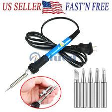 Electric Soldering Iron Gun Kit Adjustable Temperature Welding Tool Set 110v 60w