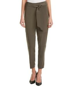 Karen-Millen-PY042-Khaki-Slim-Trousers-Safari-Casual-Work-Cigarette-Pants-6-16