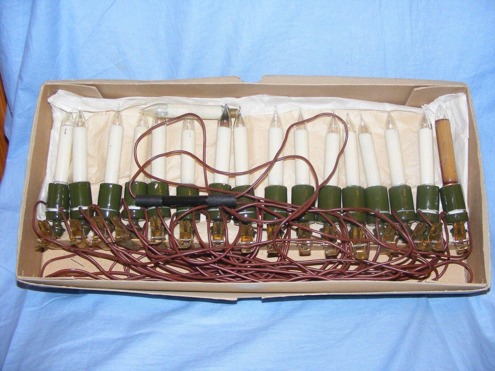 VINTAGE lumières ancien PINCE POUR BOUGIE Arbre de Noël décoration lumières VINTAGE de travail 7f10f5