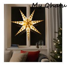 Ikea Strala Star Pendant Lamp Shade Hanging Gold White Snowflake 39 Christmas