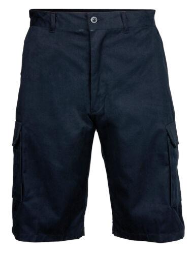 "RTY Workwear Cotton Cargo Shorts Navy L 34//36/""  RTY031 NEW"