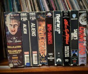 10-Essential-Horror-VHS-Tapes-Lot-Rare-Alien-Evil-Dead-Hellraiser-Friday-the-13