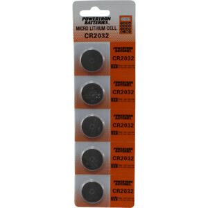 5-Pk-Replacement-CR2032-3V-Lithium-Keyless-Entry-Car-Remote-Key-FOB-Coin-Battery