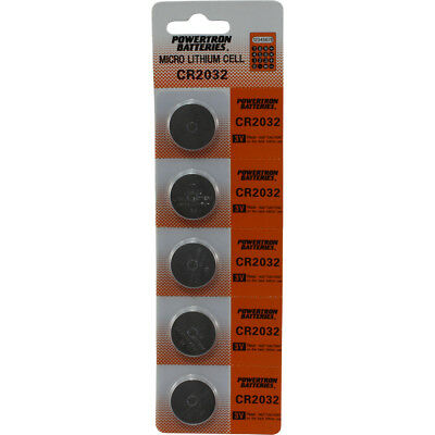Pack of 5 USARemote Battery CR2032 3V for Car Remote Key Fob Keyless Entry