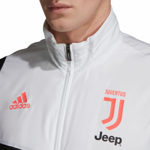 adidas Official Mens Juventus FC Pre Match Football Jacket Top White