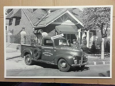"""1940 FORD PICKUP TRUCK KENTUCKY CLUB GINGER ALE 12 X 18"""" Black & White Picture"""